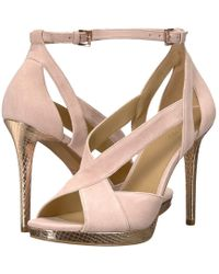 76b22122e50e Lyst - MICHAEL Michael Kors Becky Suede Dress Sandals in Pink