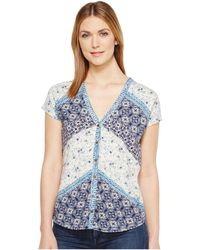 Lucky Brand - Bali Ditsy Print Top - Lyst