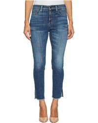 NYDJ - Petite Ami Skinny Ankle Jeans W/ Fray Side Slit In Crosshatch Denim In Newton - Lyst
