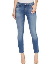 Mavi Jeans - Alexa Ankle Mid-rise Skinny In Mid Shaded Tribeca - Lyst