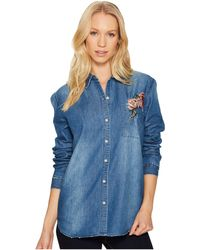Joe's Jeans - Embroidered Denim Shirt - Lyst