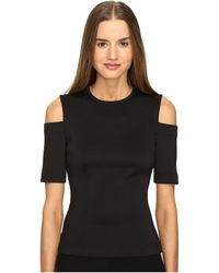 Yigal Azrouël - Cold Shoulder Scuba Top - Lyst
