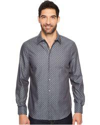 Perry Ellis - Long Sleeve Wave Printed Shirt - Lyst