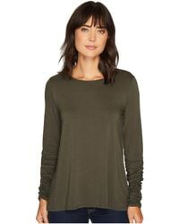 Vince Camuto - Long Ruched Sleeve High-low Hem Top - Lyst