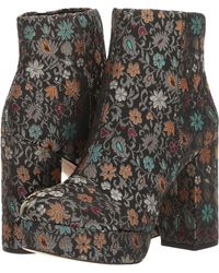 cd1c9bc3bb62e Lyst - Sam Edelman Campbell Floral-Brocade Boots in Blue