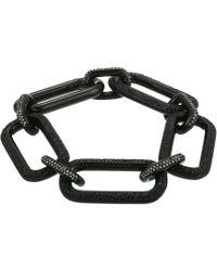 Michael Kors - Iconic Pave Link Statement Bracelet - Lyst