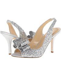 e413b63c7a5f Kate Spade Charm Heel (silver Glitter/silver Liquid Suede) High Heels
