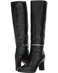 Via Spiga Shaw (black Soft Barcellona Calf) Dress Pull-on Boots