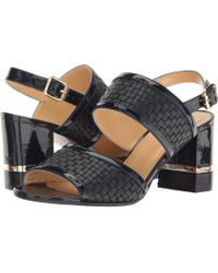 A.Testoni - Nappa And Patent Leather Strap Heel - Lyst