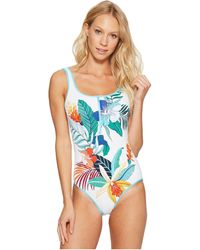 Tommy Bahama - Hibiscus Of Paradise Zip-front One-piece Swimsuit - Lyst