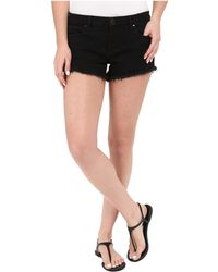 Blank NYC - Solid Gold Cut Off Short In Black - Lyst