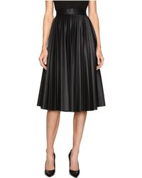 M Missoni - Faux Leather Pleated Skirt - Lyst