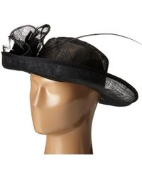 b44996a0833 San Diego Hat Company - Drs1002 Straw Kettle Brim Dress derby Hat With  Feathered Floral