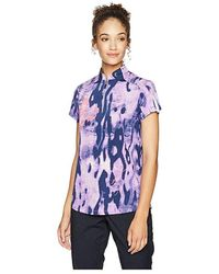 Jamie Sadock Camo Print Short Sleeve Top (frozen Lilac) Clothing