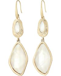 The Sak - Large Stone Double Drop Earrings - Lyst