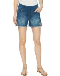 """Jag Jeans - Ainsley Pull-on 5"""" Denim Shorts W/ Embroidery In Skydive - Lyst"""