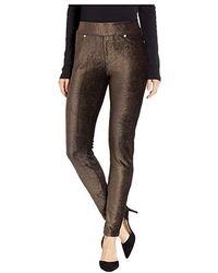 2169618352889c MICHAEL Michael Kors - Foil Cord Pull-on Leggings (black/gold) Casual