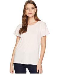 Alternative Apparel - Distressed Rocker Tee (faded Pink Pigment) T Shirt - Lyst