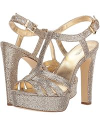 0819000ccd3 Lyst - Michael Kors Catalina Metallic Embossed-leather Sandal in ...