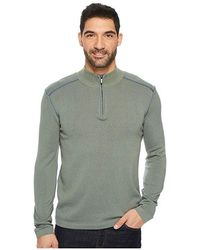 ECŌTHS - Noah Zip Neck Sweater (agave Green) Long Sleeve Pullover - Lyst