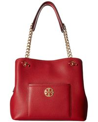 1bc9ddfcf8c4 Tory Burch Marion Slouchy Tote in Brown - Lyst