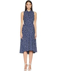 Kate Spade - Cloud Dot Midi Dress - Lyst