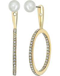Kate Spade - Shine On Pearl Hoop Ear Jackets Earrings - Lyst