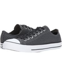 10c81925e8ba Lyst - Converse Chuck Taylor® All Star® Platform Leather Ox in Black