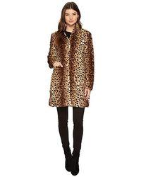 ba4e41f12444 Via Spiga - Reversible Nylon Faux Leopard (cheetah) Coat - Lyst