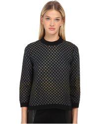 M Missoni | Large Pique Knit Long Sleeve Top | Lyst