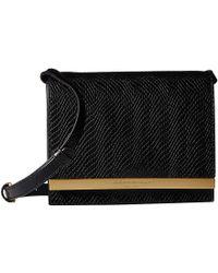 bdf309edae Donna Karan - Mally Flap Crossbody Snake (black) Cross Body Handbags - Lyst