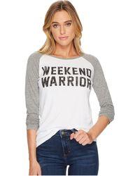 The Original Retro Brand - Weekend Warrior Long Sleeve Raglan - Lyst