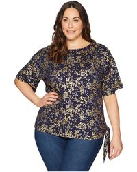 f4cb1061a6a MICHAEL Michael Kors - Plus Size Scatter Blossom Tie Top - Lyst