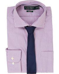 Lauren by Ralph Lauren - Classic Fit Estate Collar With A Pocket Dress Shirt  - Lyst