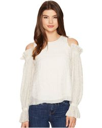INTROPIA - Cold Shoulder Ruffle Blouse - Lyst