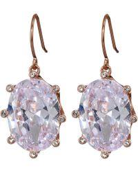 Kate Spade - Shine On Oval Drop Earrings - Lyst