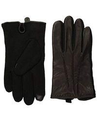 d42f2038c7360 Polo Ralph Lauren Diamond-Stitch Driving Gloves in Black for Men - Lyst
