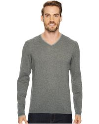 Agave - Fin Long Sleeve V-neck 14gg Sweater - Lyst
