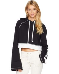 Juicy Couture - Track Fleece Cropped Pullover - Lyst