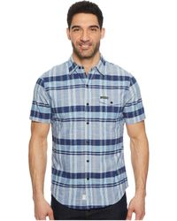 U.S. POLO ASSN. - Short Sleeve Slim Fit Plaid Shirt - Lyst