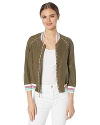bf8679e9c178 Juicy Couture - Washed Silk Track Jacket (washed Army Green) Coat - Lyst