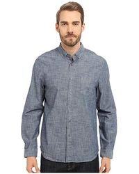 Alternative Apparel - Industry Shirt (blue Chambray) Long Sleeve Button Up - Lyst