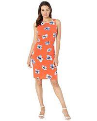 1412f0673348b Tommy Hilfiger - Floral Jersey Side Rouge Dress (grenadine Combo) Dress -  Lyst