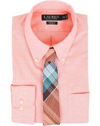Lauren by Ralph Lauren - Pinpoint Classic Button Down Pocket Shirt - Lyst