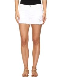 Blank NYC - Distressed White Shorts In White Lines - Lyst