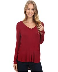 B Collection By Bobeau - Alice Long Sleeve Tee - Lyst