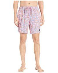 fd5a6e1b37185 Vineyard Vines - Island Palms Chappy Swim Trunks (washed Neon Pink) Swimwear  - Lyst