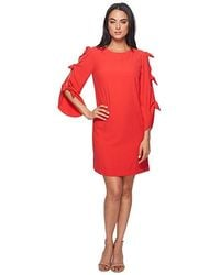 ff9e4ae9 Tahari Plaid Crepe Tie-waist Dress in Gray - Save 61% - Lyst