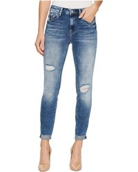 Mavi Jeans - Tess High-rise Super Skinny Ankle In Mid Indigo Vintage - Lyst