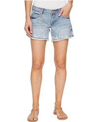 Stetson - Denim Shorts With Floral Embroidery On Hem - Lyst